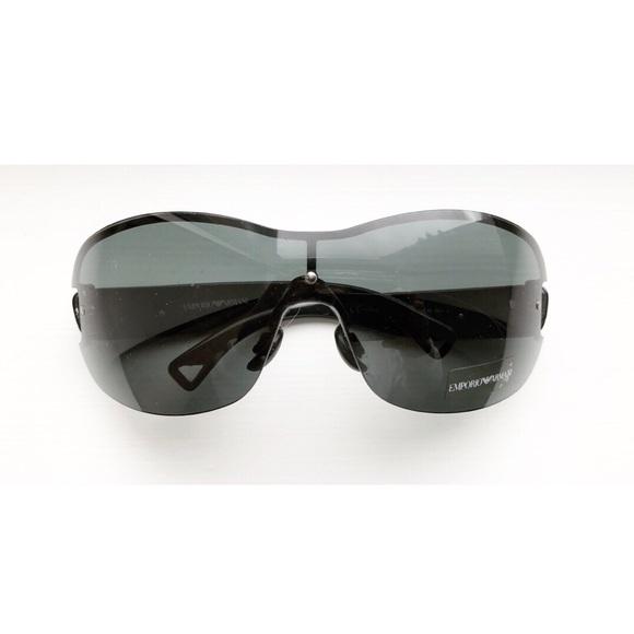 da5e8c54768 Emporio Armani Accessories - Black Emporio Armani shield sunglasses